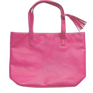 Pink Tote Purse w/Orange Paisley Lining